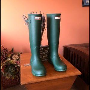 HUNTER original tall green rain boots